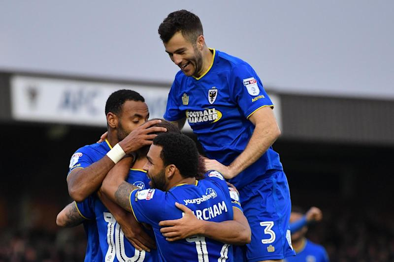 History: AFC Wimbledon will finish above MK Dons for the first time: Getty Images,