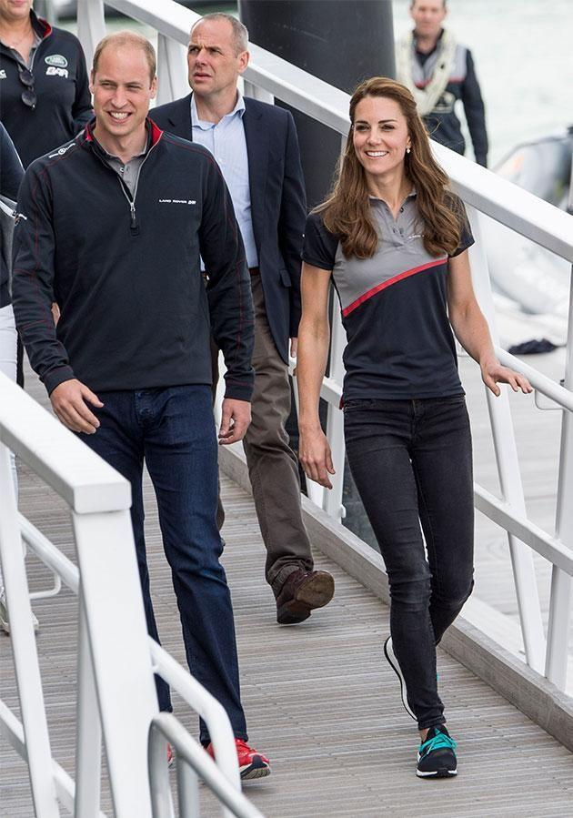 Kate and Will about to board their boat. Photo: Getty Images
