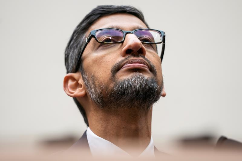 Google CEO Sundar Pichai testifies before a House Judiciary Committee hearing on 'Transparency and Accountability: Examining Google and its Data Collection, Use and Filtering Practices' in the Rayburn House Office Building in Washington, DC, USA, 11 December 2018 (Reissued 03 December 2019). EFE/Jim Lo Scalzo/Archivo