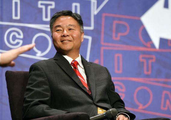 "Ted Lieu at the ""From Russia With Trump"" panel during Politicon at Pasadena Convention Center on July 30, 2017, in Pasadena, Calif. (Photo: Joshua Blanchard/Getty Images for Politicon)"