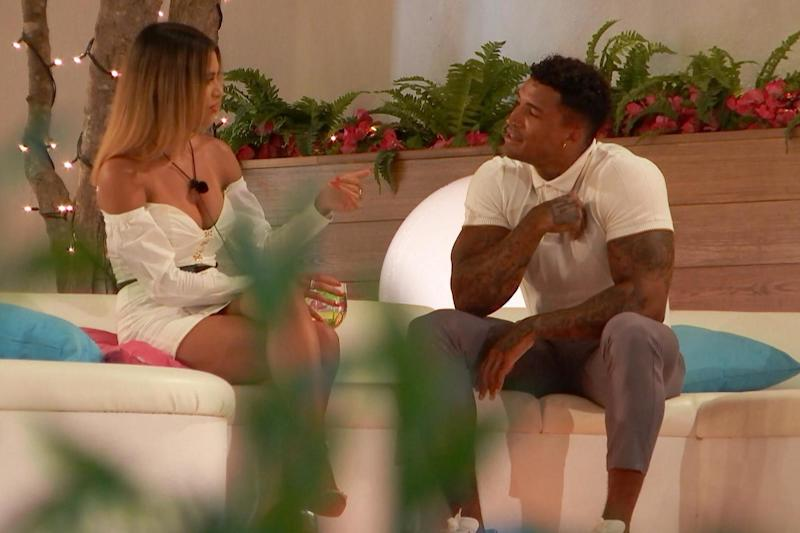 Michael and new girl Joanna chat (ITV)