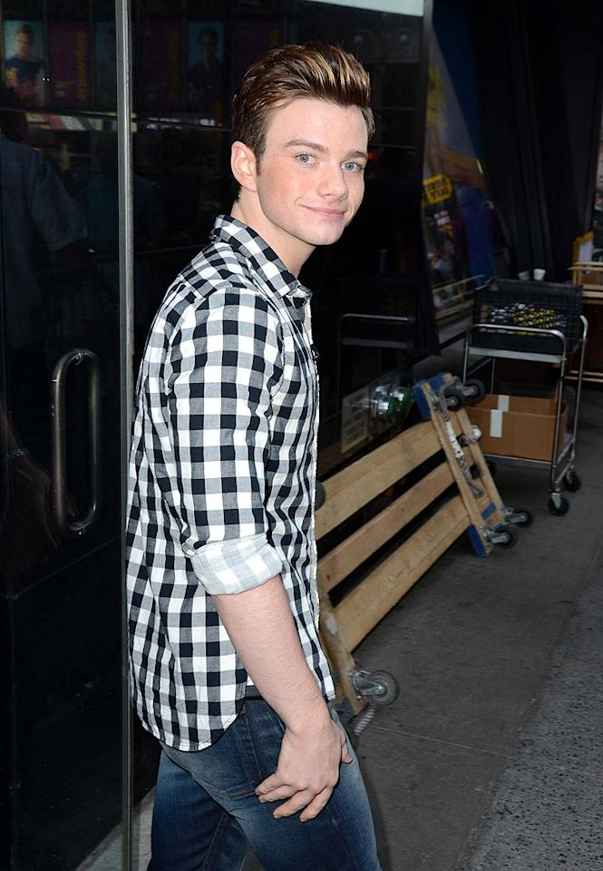 """Glee"" star Chris Colfer arrived at ABC's venerable morning show ""Good Morning America"" to promote his new children's novel, <em>The Land of Stories</em>. So the guy is starring in a hit TV show <em>and</em> just fulfilled his dream of writing a book? Not bad for 22!"