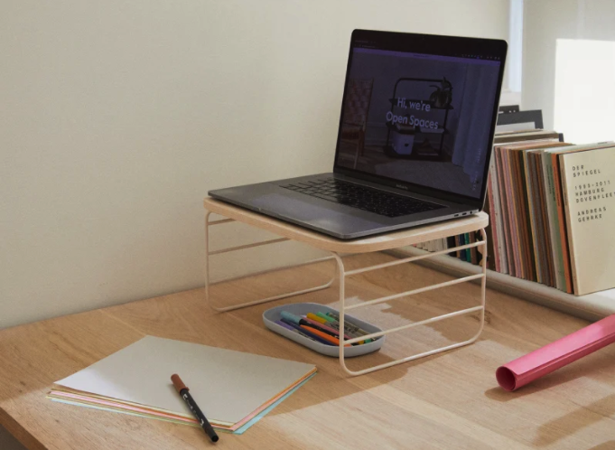 "This minimalist set of shelf risers is a makeshift bedroom-office star that will help you elevate your laptop to new at-home ergonomic heights. <br><br><strong><em><a href=""https://getopenspaces.com/"" rel=""nofollow noopener"" target=""_blank"" data-ylk=""slk:Shop Open Spaces"" class=""link rapid-noclick-resp"">Shop Open Spaces</a></em></strong><br><br><strong>Open Spaces</strong> Shelf Risers - Set of 2, $, available at <a href=""https://go.skimresources.com/?id=30283X879131&url=https%3A%2F%2Fgetopenspaces.com%2Fshop%2Fshelf-risers%2F"" rel=""nofollow noopener"" target=""_blank"" data-ylk=""slk:Open Spaces"" class=""link rapid-noclick-resp"">Open Spaces</a>"