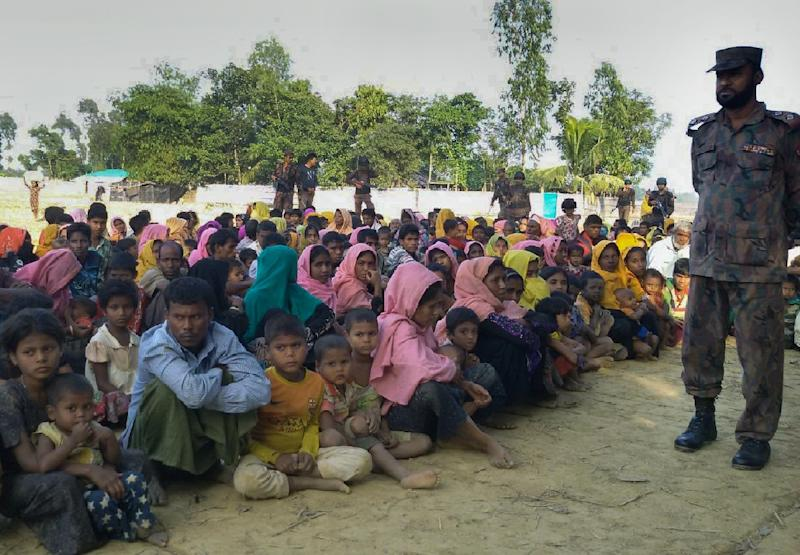 Nearly 73,000 Rohingya refugees have entered Bangladesh since last October, when government forces in Myanmar unleashed a bloody crackdown on the Muslim minority (AFP Photo/)