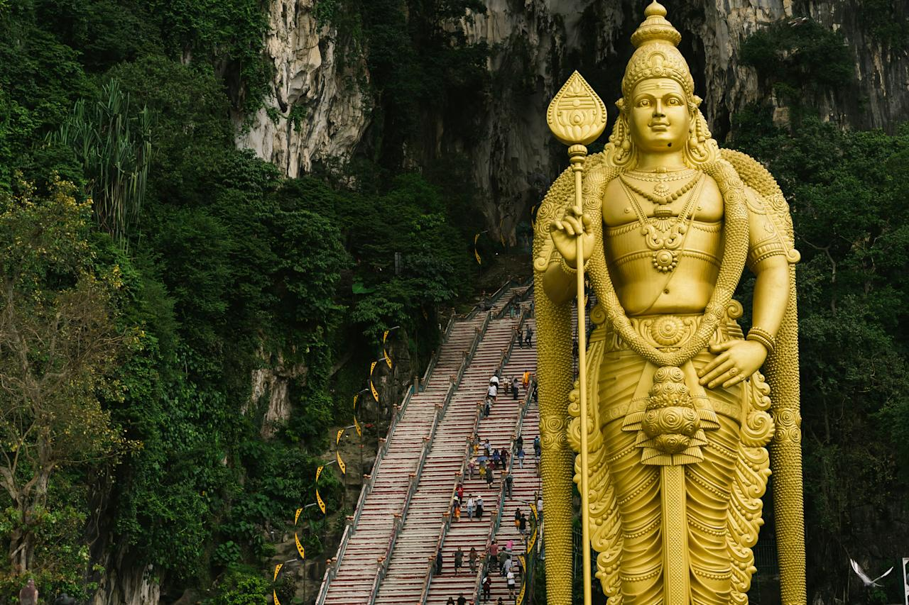 <p>The Batu Steps sit outside of Malaysia's most famous temple and there are over 558,000 hashtags dedicated to it. <em>[Photo: Getty]</em> </p>