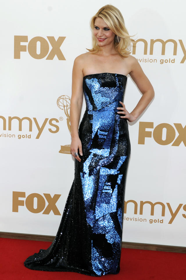 Claire Danes arrives at the 63rd Primetime Emmy Awards on Sunday, Sept. 18, 2011 in Los Angeles. (AP Photo/Chris Pizzello)