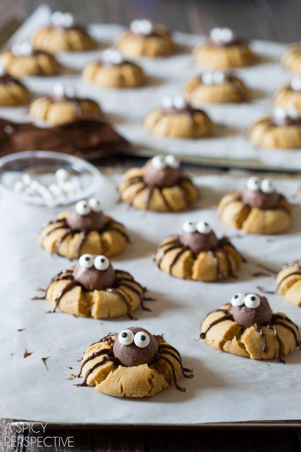 "<p>Our favorite kind of spiders are ones made out of Lindor truffles.</p><p>Get the recipe from <a href=""http://www.aspicyperspective.com/chocolate-peanut-butter-spider-cookies/"" rel=""nofollow noopener"" target=""_blank"" data-ylk=""slk:A Spicy Perspective"" class=""link rapid-noclick-resp"">A Spicy Perspective</a>.</p>"