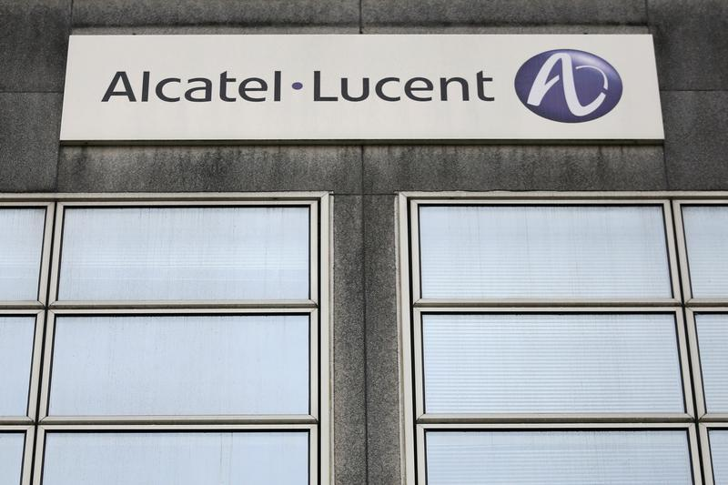 The Logo Of Telecom Equipment Maker Alcatel Lucent Is Seen On Company Site