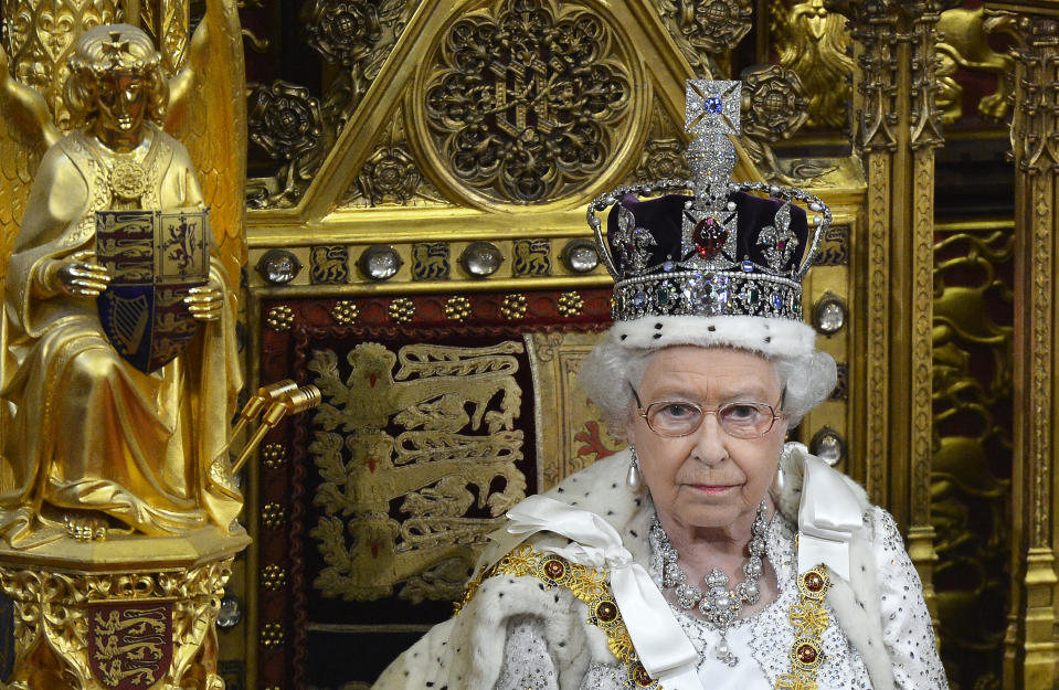 Queen Elizabeth, here at the 2013 the State Opening of Parliament, could be worth £400m. (Reuters)