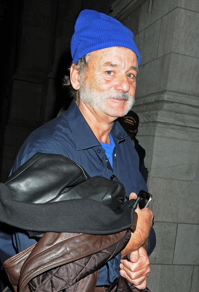 87826, NEW YORK, NEW YORK - Monday December 03, 2012. **EXCLUSIVE** BILLS BACK BUSTING! Legendary comedy actor Bill Murray who is back on board for the upcoming 'Ghostbusters 3' movie after reportedly dropping out of the sequel was seen rocking a festive Santa style beard and blue beanie hat while out in New York. Photograph: ©Darla Khazei, PacificCoastNews.com **FEE MUST BE AGREED PRIOR TO USAGE** **E-TABLET/IPAD & MOBILE PHONE APP PUBLISHING REQUIRES ADDITIONAL FEES** LOS ANGELES OFFICE: 1 310 822 0419 LONDON OFFICE: 44 20 8090 4079