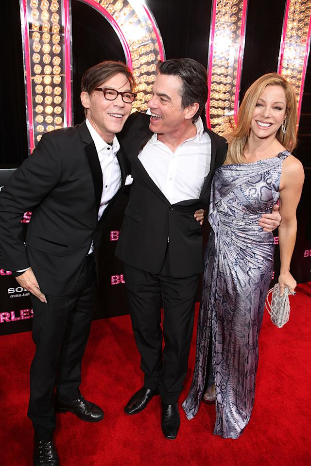 """<a href=""""http://movies.yahoo.com/movie/contributor/1800022038"""">Steven Antin</a>, <a href=""""http://movies.yahoo.com/movie/contributor/1800018628"""">Peter Gallagher</a> and <a href=""""http://movies.yahoo.com/movie/contributor/1800317958"""">Denise Faye</a> at the Los Angeles premiere of <a href=""""http://movies.yahoo.com/movie/1810125282/info"""">Burlesque</a> on November 15, 2010."""