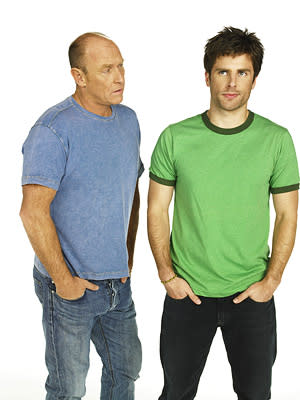 "Corbin Bernsen and James Roday in ""Psych."""