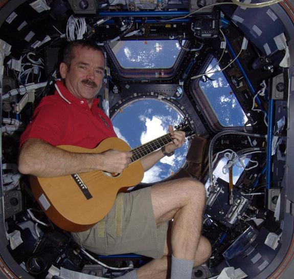 Astronaut Records 1st Original Song on Space Station
