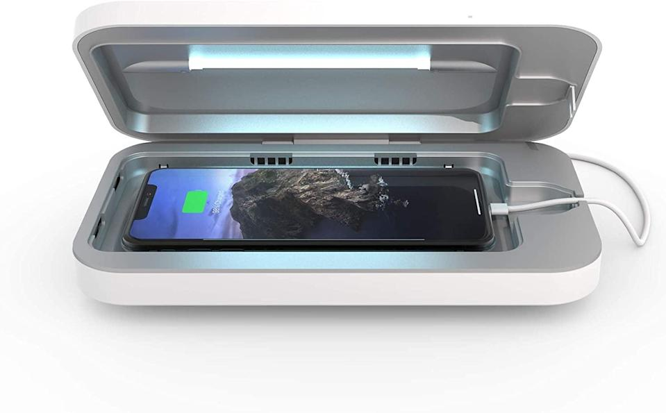 <p>Sanitize your phone the safe way with the <span>PhoneSoap 3 UV Cell Phone Sanitizer and Dual Universal Cell Phone Charger</span> ($80).</p>