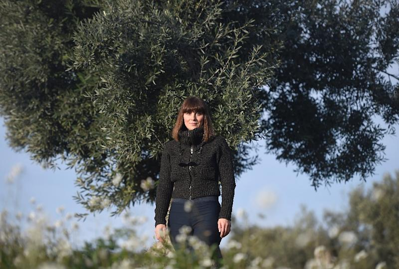 """""""Adopt an Olive Tree"""" co-founder Sira Plana says that for most sponsors, the decision is """"very, very emotional... linked to a relative, a child, grandfather, an olive plantation"""" (AFP Photo/JOSE JORDAN)"""
