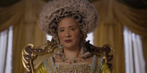 """<p>The dried and ground tobacco leaves were quite popular amongst men and women during the time and Queen Charlotte happened to be addicted to it in real life. Her habit <a href=""""https://www.revolutionaryplayers.org.uk/taking-snuff/"""" rel=""""nofollow noopener"""" target=""""_blank"""" data-ylk=""""slk:earned her the nickname"""" class=""""link rapid-noclick-resp"""">earned her the nickname</a> """"Snuffy Charlotte.""""</p>"""