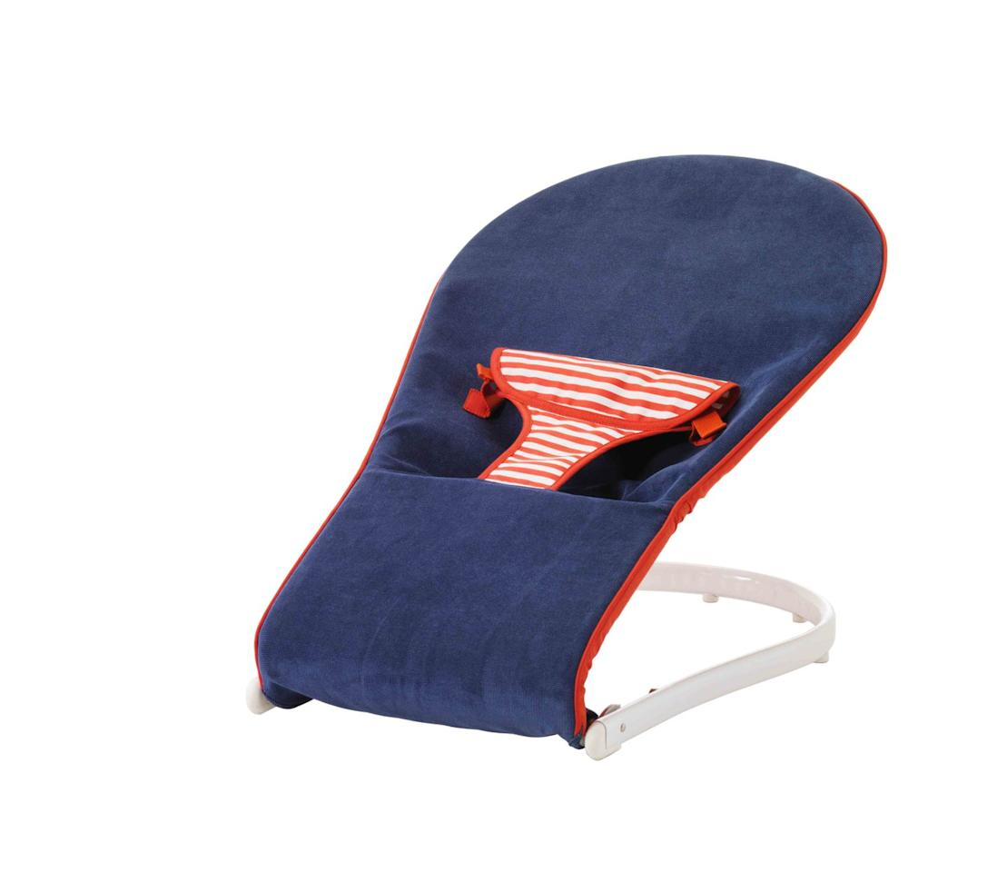 "<p>Agnieszka says: 'This TOVIG baby bouncer will ensure your baby feels stimulated by watching activities in your home from a safe and comfortable position. Its nautical theme also makes it ideal for a royal-inspired nursery.'</p><p><a rel=""nofollow"" href=""https://www.ikea.com/gb/en/products/childrens-ikea-products/baby/changing-tables-nursing/tovig-baby-bouncer-blue-red-art-10167971/"">BUY NOW</a></p>"
