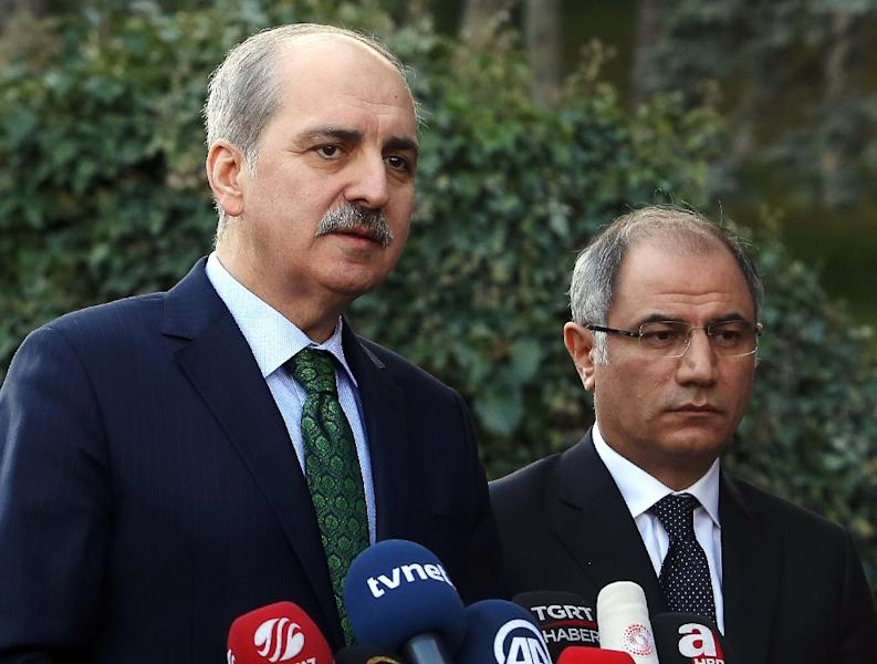 Turkish Deputy Prime Minister Numan Kurtulmus (L) called on Trump to reconsider the immigration ban, which he said was motivated by Islamophobia (AFP Photo/ADEM ALTAN)