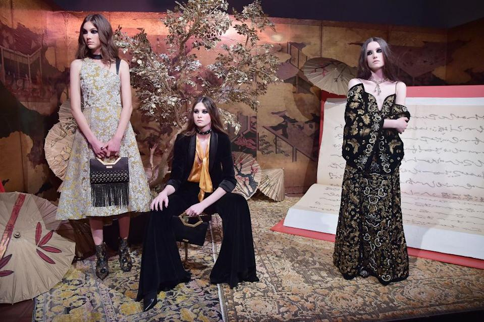 <p>Models at the Alice & Olivia fall 2018 presentation. (Photo: Getty Images) </p>
