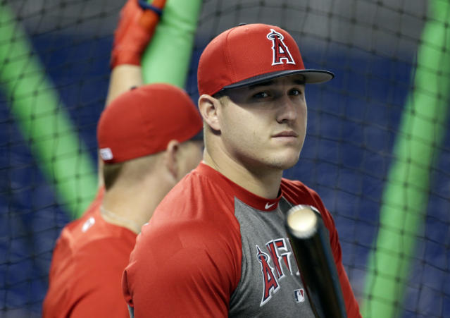 """<a class=""""link rapid-noclick-resp"""" href=""""/mlb/players/8861/"""" data-ylk=""""slk:Mike Trout"""">Mike Trout</a> will donate $27,000 to Hurricane Harvey relief efforts. (AP Photo)"""