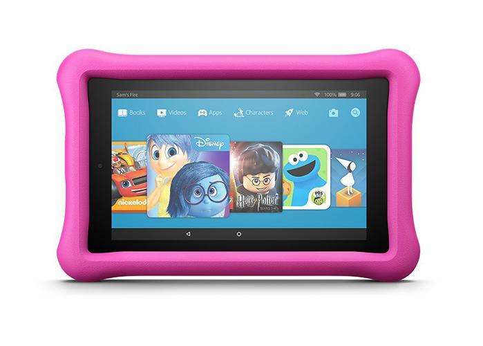 Amazon Fire 7 kids edition tablet in pink. (Photo: Amazon)