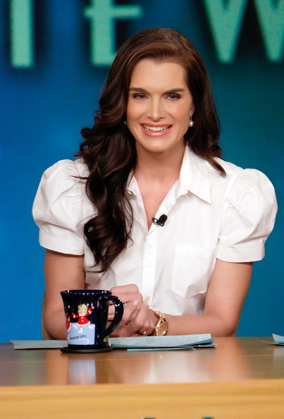 """THE VIEW - Brooke Shields was a guest co-host on """"THE VIEW,"""" Tuesday, Feb. 9, 2010 (11:00 a.m. - 12:00 noon, ET) airing on the Walt Disney Television via Getty Images Television Network.   VW10 (Photo by Heidi Gutman/Walt Disney Television via Getty Images) BROOKE SHIELDS"""