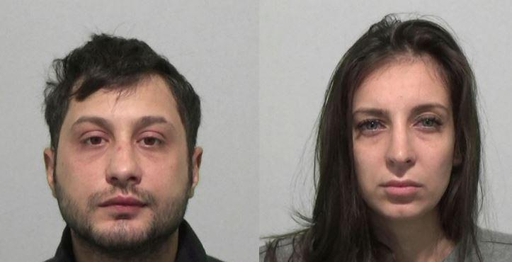 Florin Butonasi (L) and Andra-Mihaela Gheorghe targeted a pensioner (police)