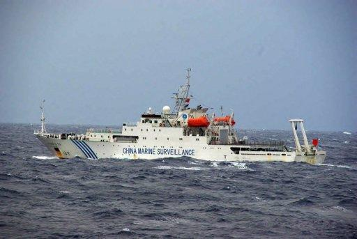 Chinese maritime surveillance ship, pictured near a group of disputed islands with Japan, on November 27, 2012