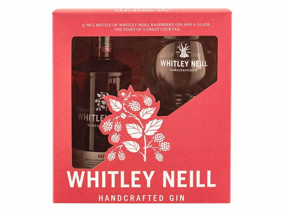 Whitley Neill handcrafted raspberry gin and glass gift pack: Was £33.50, now £20, Amazon.co.uk (Amazon)