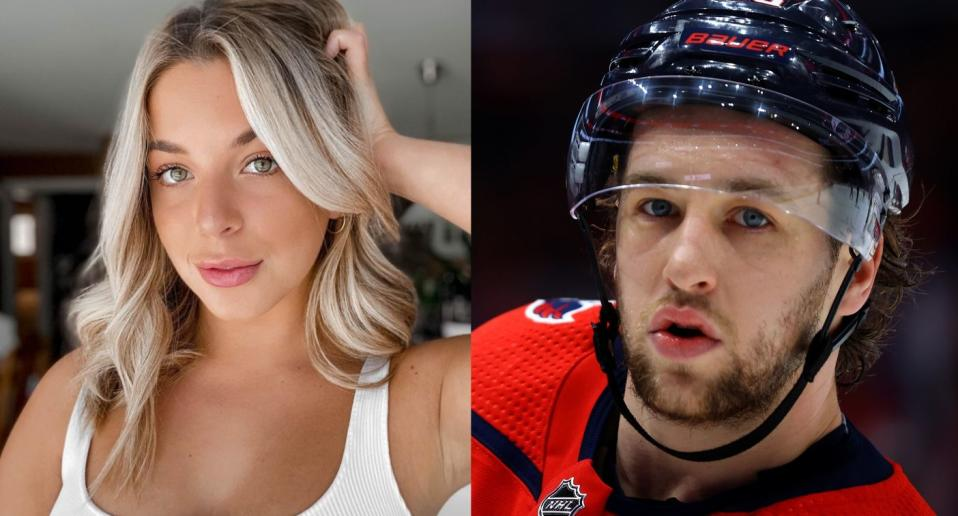 Nicole Zajac was one of the women mentioned in leak messages from a private Instagram exchange involving NHL hockey player, Brendan Leipsic. (Images via Instagram/Getty Images).