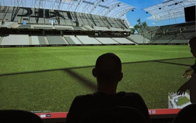 Fans are starting to choose their seats at LAFC's downtown stadium. (AP Photo)