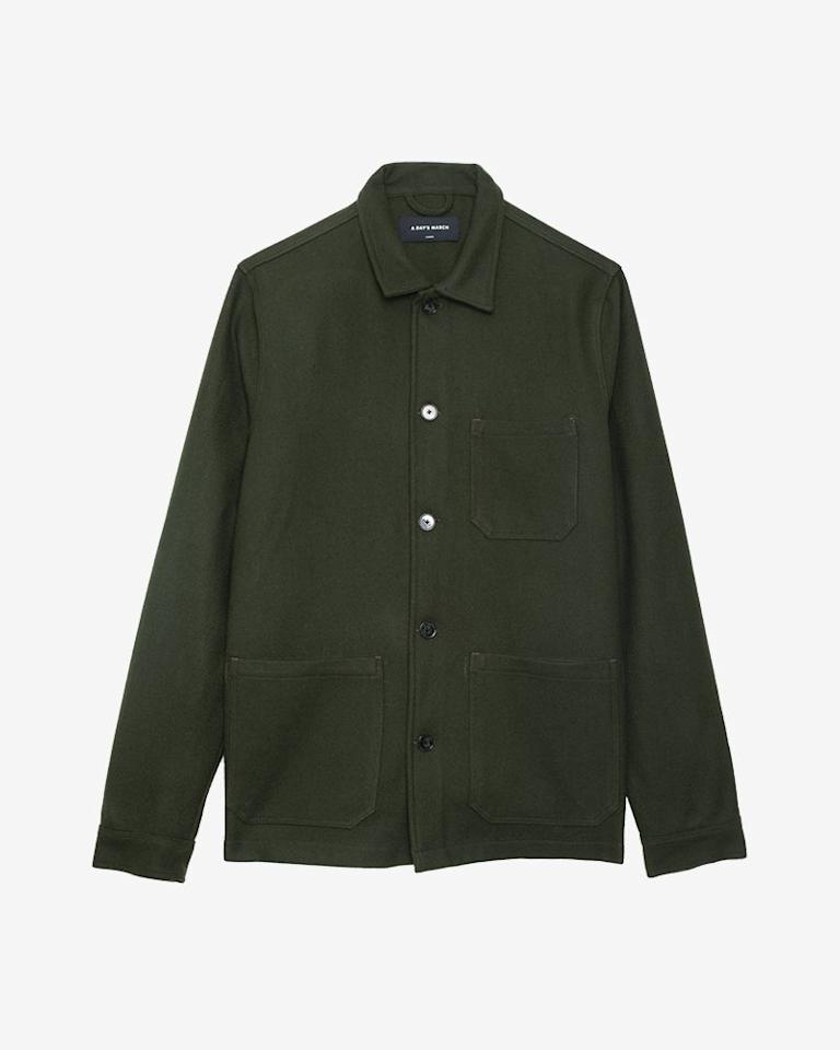 """<p><a rel=""""nofollow"""" href=""""https://adaysmarch.co.uk/shop/..."""">SHOP</a></p><p>Perfect to wear with a thin sweater and scarf on those days when the weather can't make its mind up, this wool overshirt from Swedish menswear label A Day's March is a layering God-send.</p><p><em>£140, <a rel=""""nofollow"""" href=""""https://adaysmarch.co.uk/shop/overshirts/original-overshirt-wool-olive"""">A Day's March</a></em></p>"""