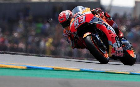Motorcycling - MotoGP - French Grand Prix - Bugatti Circuit, Le Mans, France - May 20, 2018 Repsol Honda Team's Marc Marquez in action REUTERS/Gonzalo Fuentes