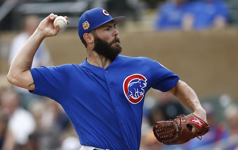 Jake Arrieta is a free agent after this season. (AP)