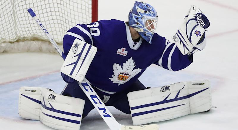 Kasimir Kaskisuo has been placed on waivers by the Toronto Maple Leafs. (Steve Russell/Toronto Star via Getty Images)