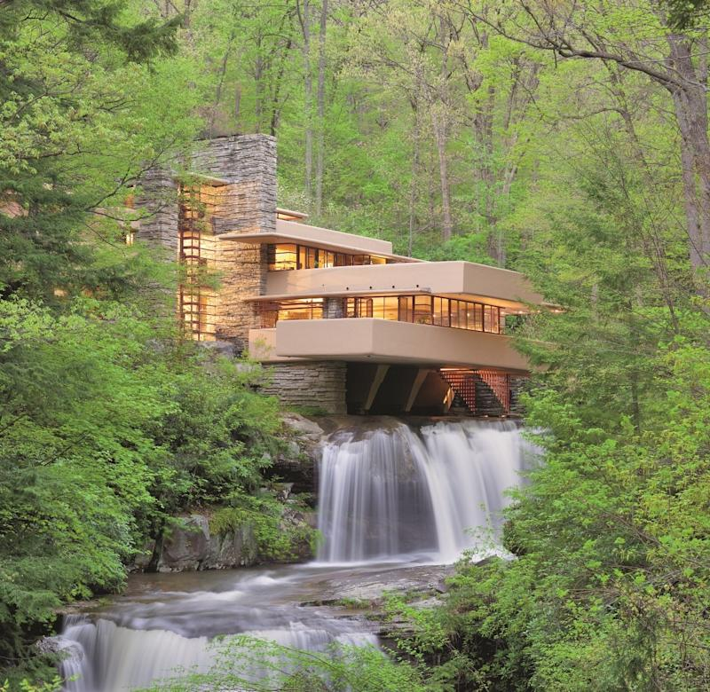 The exterior of Fallingwater, now a UNESCO World Heritage Site.