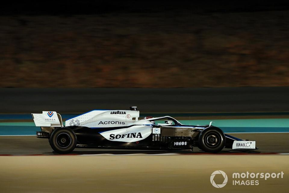 """George Russell, Williams FW43<span class=""""copyright"""">Zak Mauger / Motorsport Images</span>"""