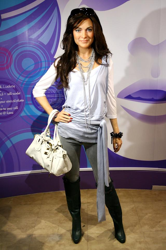Lindsay Lohan wax figure debuts at Madame Tussauds on April 12, 2006 in New York City. Photo courtesy of Getty Images.