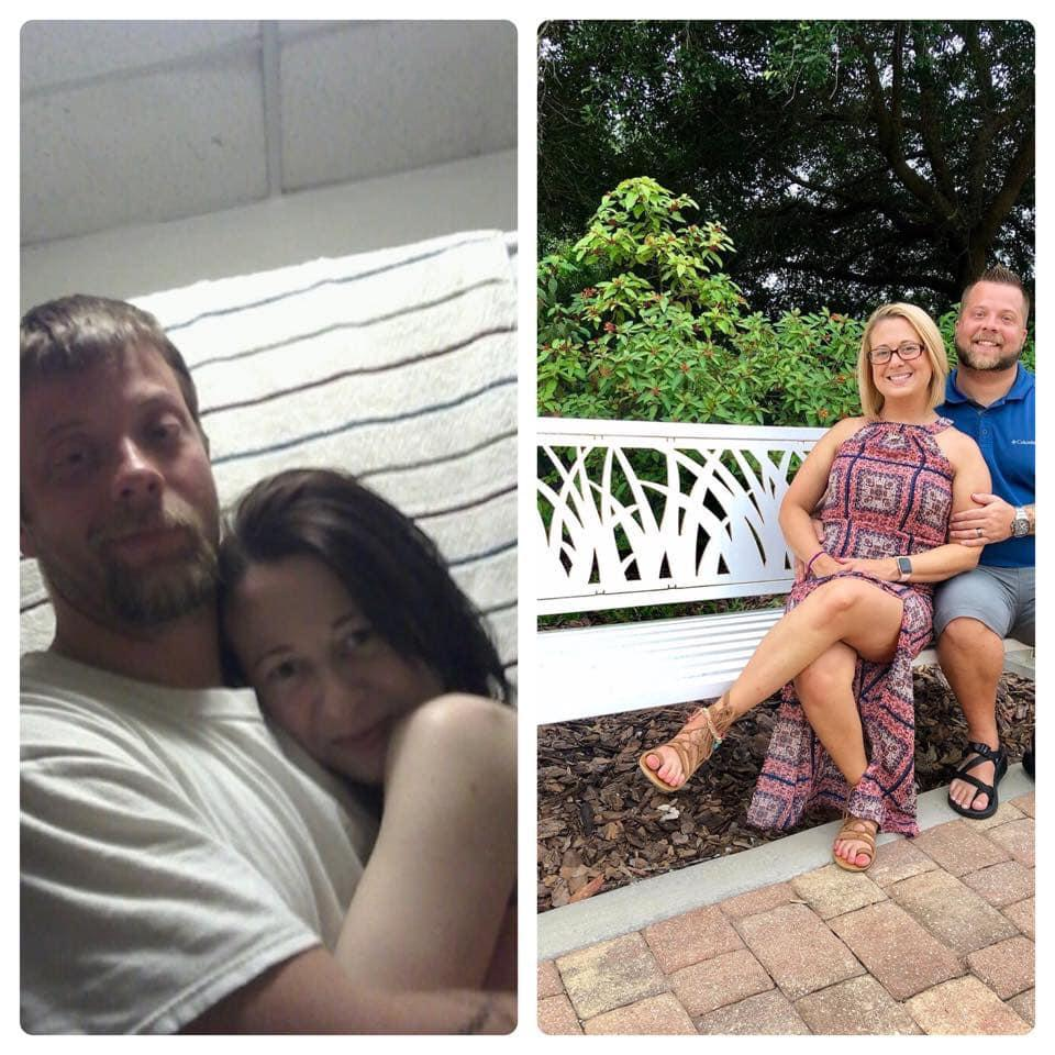 Brent and Ashley Walker of Tennessee are inspiring addicts with before-and-after photos of their own recovery process. (Photo: Facebook/Brent Alexander Walker)
