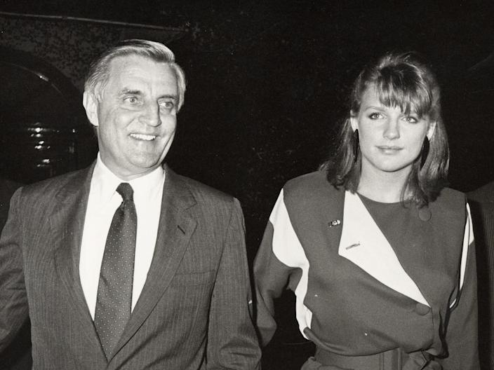 Walter Mondale and his daughter Eleanor.