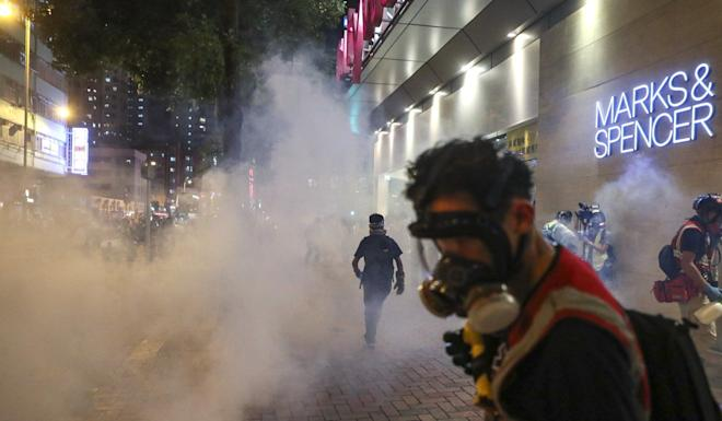 The government has refused to release information about the composition of tear gas, sparking widespread health concerns. Photo: Sam Tsang