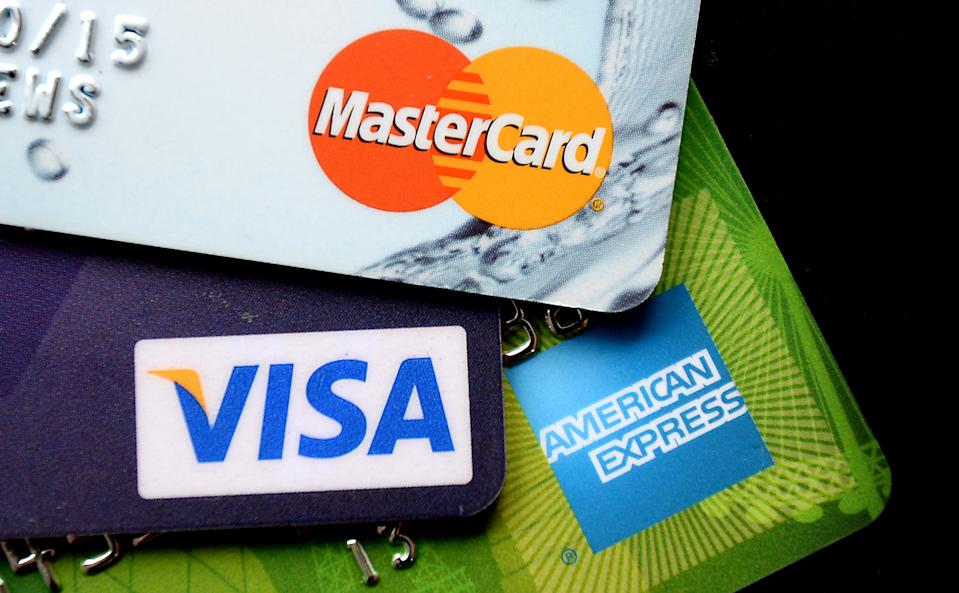 Visa, MasterCard and American Express credit cards. Photo: Andrew Matthews/PA Archive/PA Images