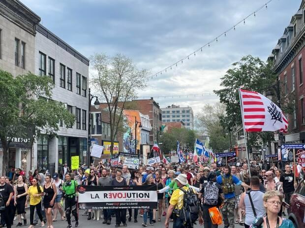 The march began in downtown Montreal at 1:30 p.m.