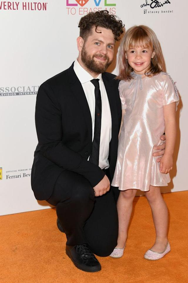 Jack and his daughter Pearl at the 25th annual Race to Erase MS gala on April 20, 2018. (Photo: Jon Kopaloff/Getty Images)