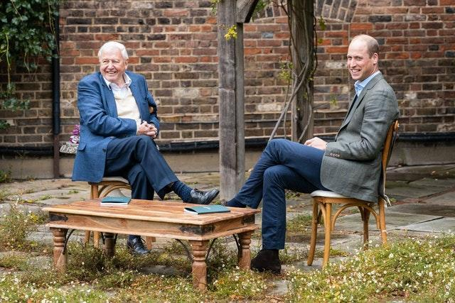Sir David Attenborough and Prince William