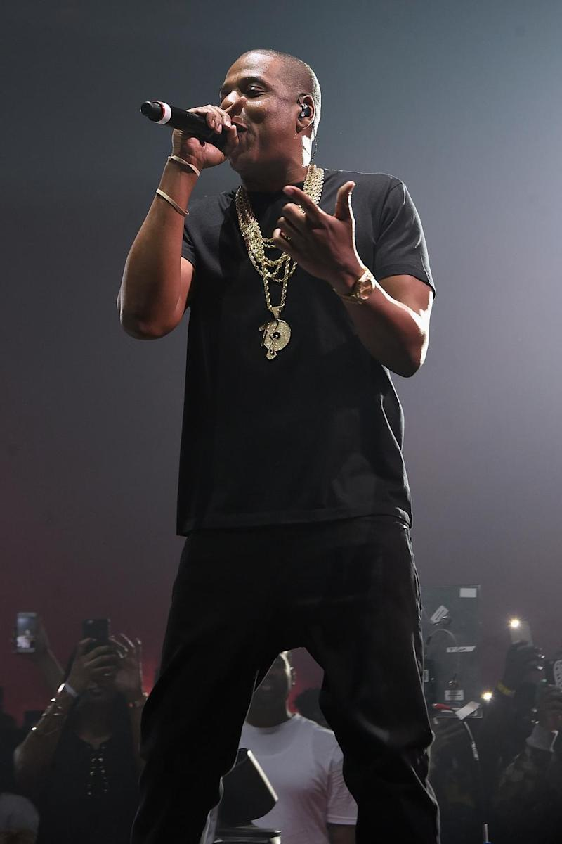 Performer: Jay-Z on stage (Jamie McCarthy/Getty)