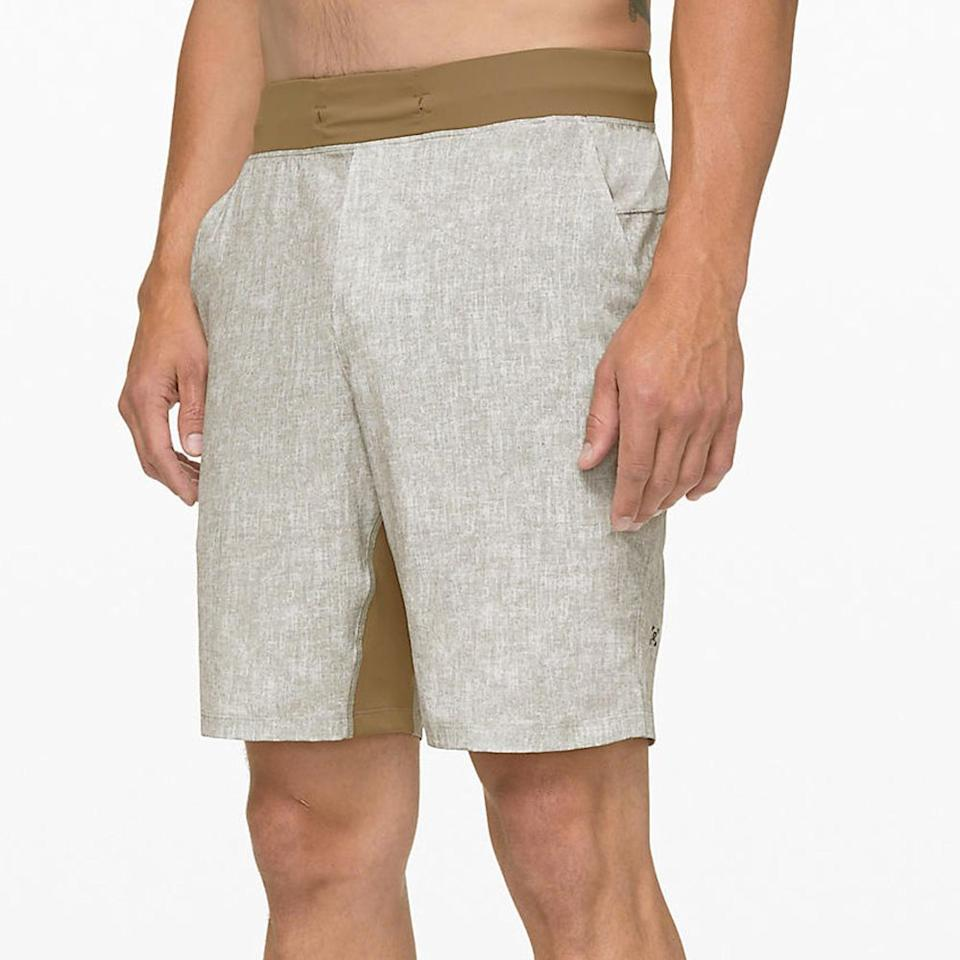 """<p><strong>Lululemon</strong></p><p>lululemon.com</p><p><strong>$58.00</strong></p><p><a href=""""https://go.redirectingat.com?id=74968X1596630&url=https%3A%2F%2Fshop.lululemon.com%2Fp%2Fm-soul-cycle%2FTHE-Short-Linerless-SC%2F_%2Fprod9290094&sref=http%3A%2F%2Fwww.menshealth.com%2Fstyle%2Fg27613512%2Flululemon-license-to-train-collection-launch-review%2F"""" target=""""_blank"""">BUY IT HERE</a></p>We designed these lightweight, linerless training shorts with sweat in mind."""