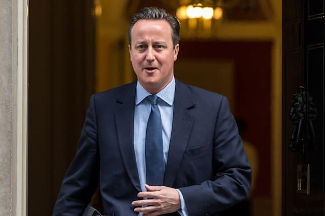 David Cameron Leaves Downing Street To Attend Prime Minister's Questions