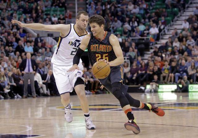 Kyle Korver is shooting 40.9 percent from 3-point range this season. (AP)
