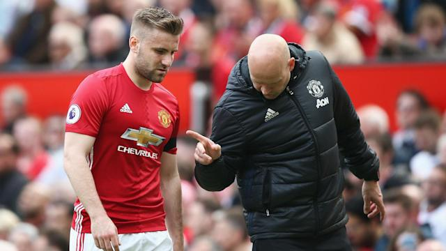 Manchester United boss Jose Mourinho has announced that Luke Shaw will play no further part in their run-in due to a foot injury.